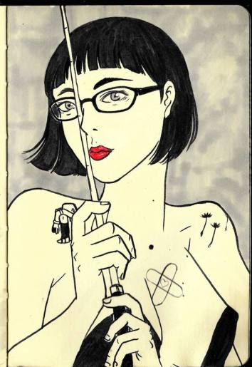 Oct 5 - Professional Dominatrix and friend who today listened to me laugh, gripe, and cry over a big serving of coffee~