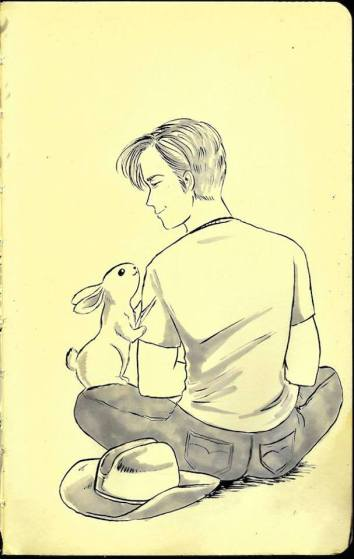 Oct 18 - Some rabbits are easy to please. Simple treats are all you need. Maybe a handsome face helps, too.